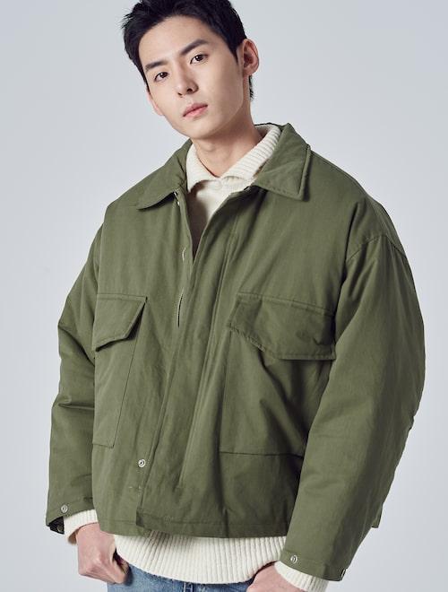 2cbbe07c44a 8seconds-카키 솔리드 코튼 패치 포켓 야상 재킷│삼성물산 온라인몰 SSF Shop