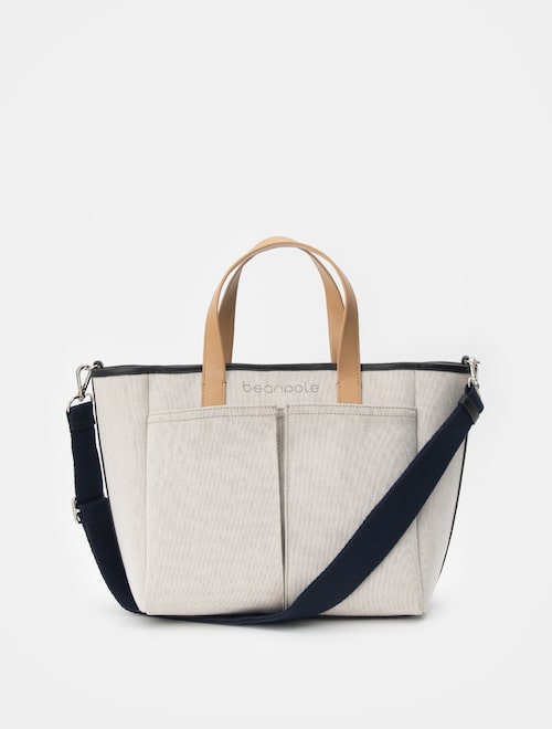 e755af8cd1 19SS Beanpole Accessory NEW BAY Large Tote Bag - Beige (Women) USD 100.80  USD 160.00 37%