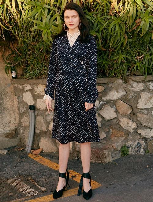 ★Shin hye-sun, Lee Sung-kyung, Joy`s Pick★ Wrap V-neck Dress (VW8SO0430) –  Navy