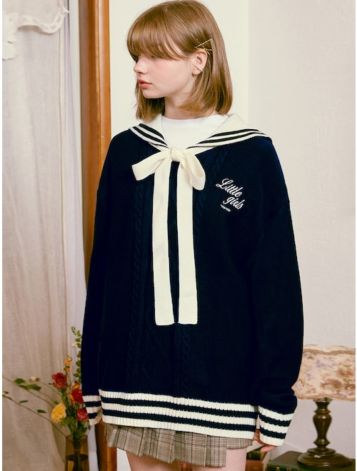 Stray Kids Fashion Fix The Honey POP Sailor Knit Pullover