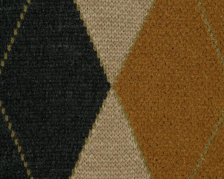 에잇세컨즈(8SECONDS) 베이지 아가일 패턴 오버사이즈 카디건 (260Y5AEY3A)