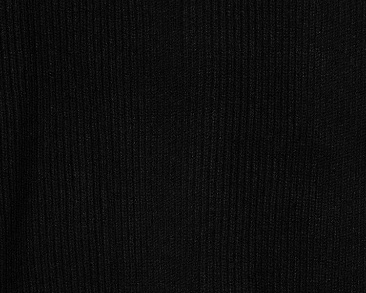 에잇세컨즈(8SECONDS) 블랙 포켓 라운드넥 집업 니트 카디건 (210Y5AAY85)