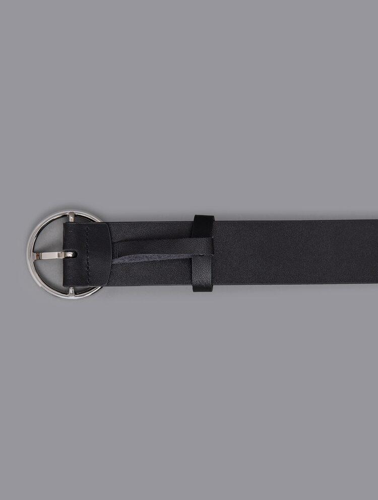에잇세컨즈(8SECONDS) 블랙 베이직 O링 캐주얼 벨트 (291182WYX5)