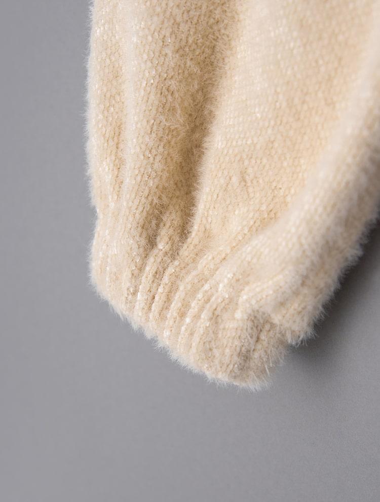 에잇세컨즈(8SECONDS) 아이보리 헤어리 버튼 브이넥 재킷 (351111IQ10)