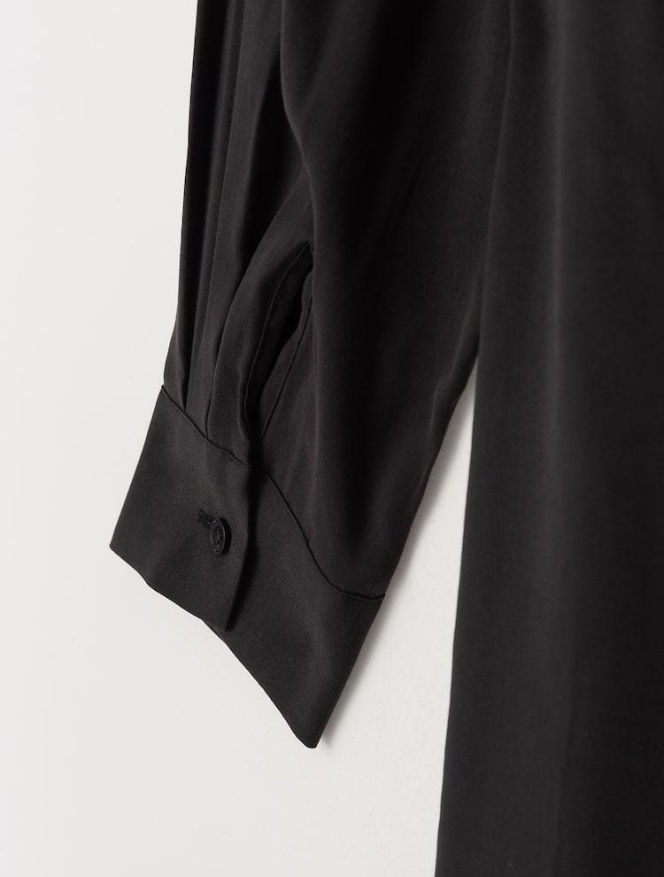 에잇세컨즈(8SECONDS) 블랙 벨트 포인트 셔츠 롱 원피스 (321171BY25)