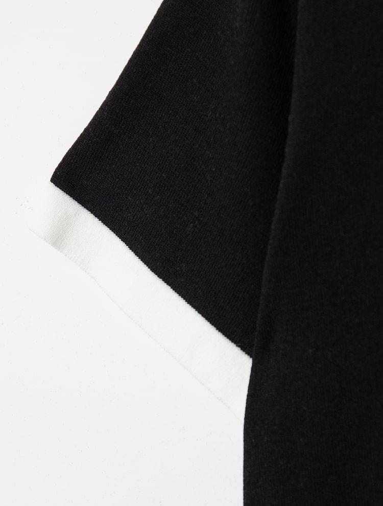 에잇세컨즈(8SECONDS) 블랙 배색 포인트 니트 카디건 (32145ALY45)