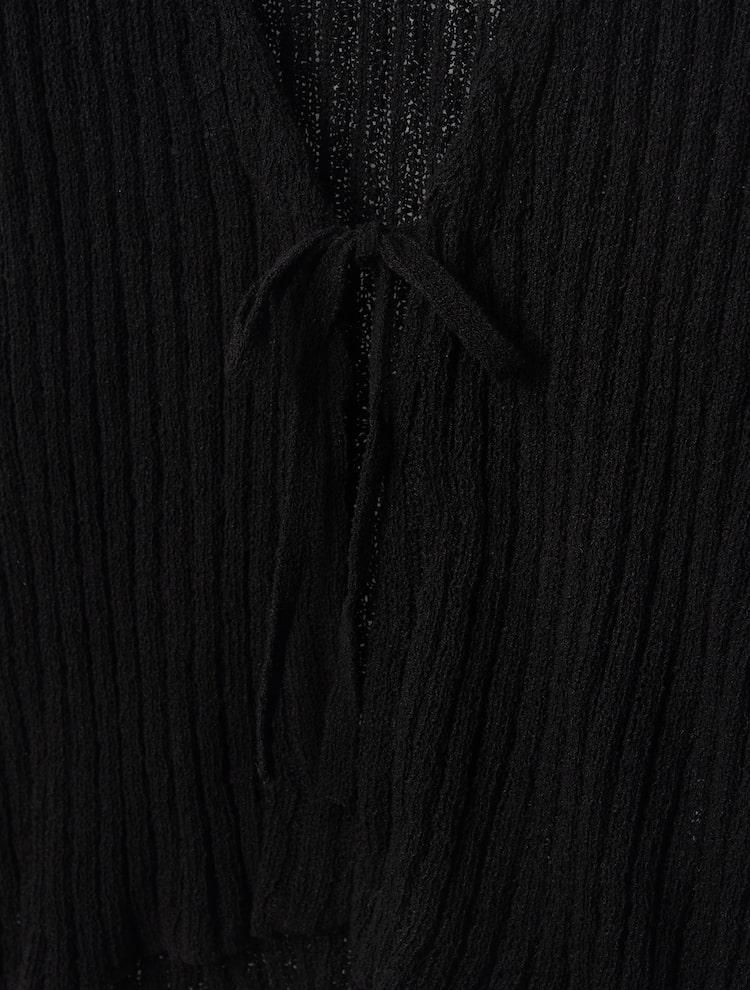 에잇세컨즈(8SECONDS) [RECYCLE] 블랙 스트랩 오픈 카디건 (32145ALY95)