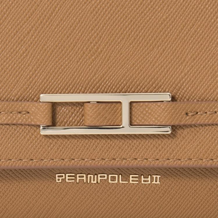 빈폴 액세서리(BEANPOLE ACCESSORY) 브라운 클래식 빈 3단 장지갑 (BE01A4M63C)