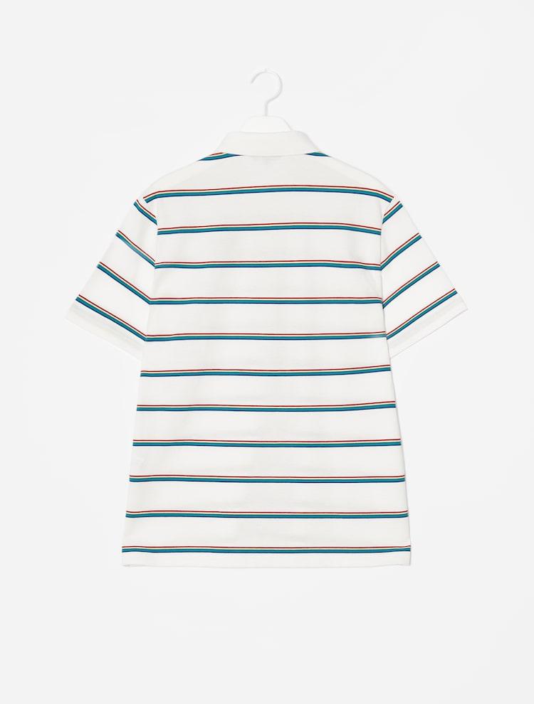 빈폴 스포츠(BEANPOLE SPORT) Unisex 화이트 멀티 컬러 피케 티셔츠 (BO0342SR41)