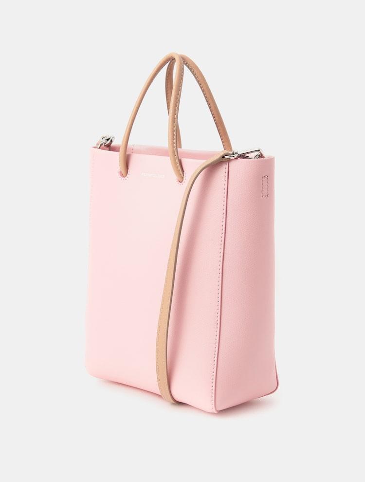 빈폴 액세서리(BEANPOLE ACCESSORY) 여성 핑크 라이트 빈 스몰 토트백 (BE03D3M32X)