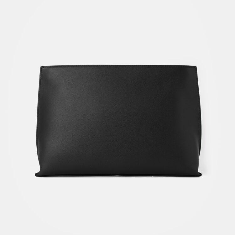 빈폴 액세서리(BEANPOLE ACCESSORY) 로얄 빈 클러치백  Black (BE08A4M645)