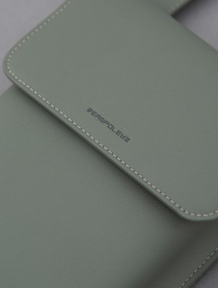 빈폴 액세서리(BEANPOLE ACCESSORY) 남성 카키 구름 핸드폰 미니백 (BE11A3M45H)