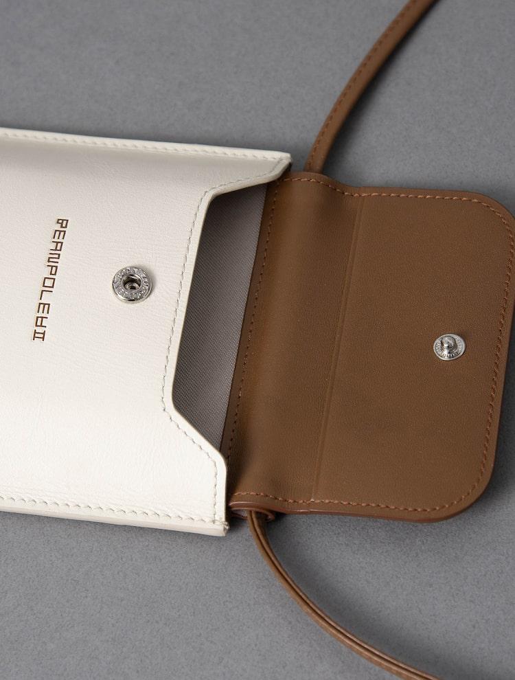빈폴 액세서리(BEANPOLE ACCESSORY) 여성 아이보리 하루 콤비 핸드폰 슬링백 (BE11A4W560)