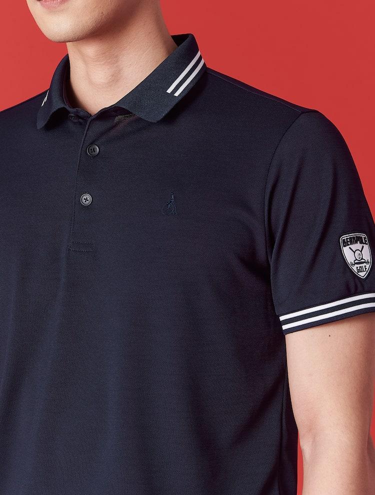 빈폴골프(BEANPOLE GOLF) 남성 네이비 와펜 피케 칼라 티셔츠 (BJ1342OB3R)