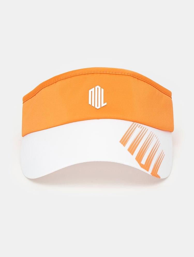 빈폴골프(BEANPOLE GOLF) [NDL라인] 여성 오렌지 그라데이션 로고 썬바이저 (BJ138BL048)