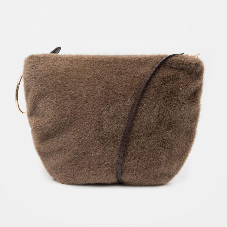 오이아우어(OIAUER) Eco-Fur Mini Bag in Brown