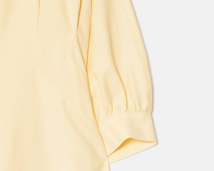 오이아우어(OIAUER) Bean Button Detail One-piece in Yellow