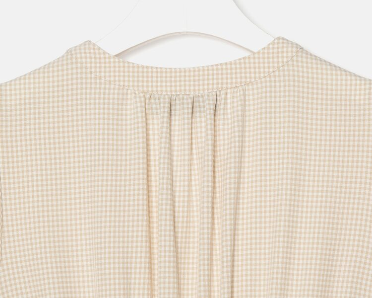 오이아우어(OIAUER) Gingham Check One-piece in Beige (WS0671MG1A)