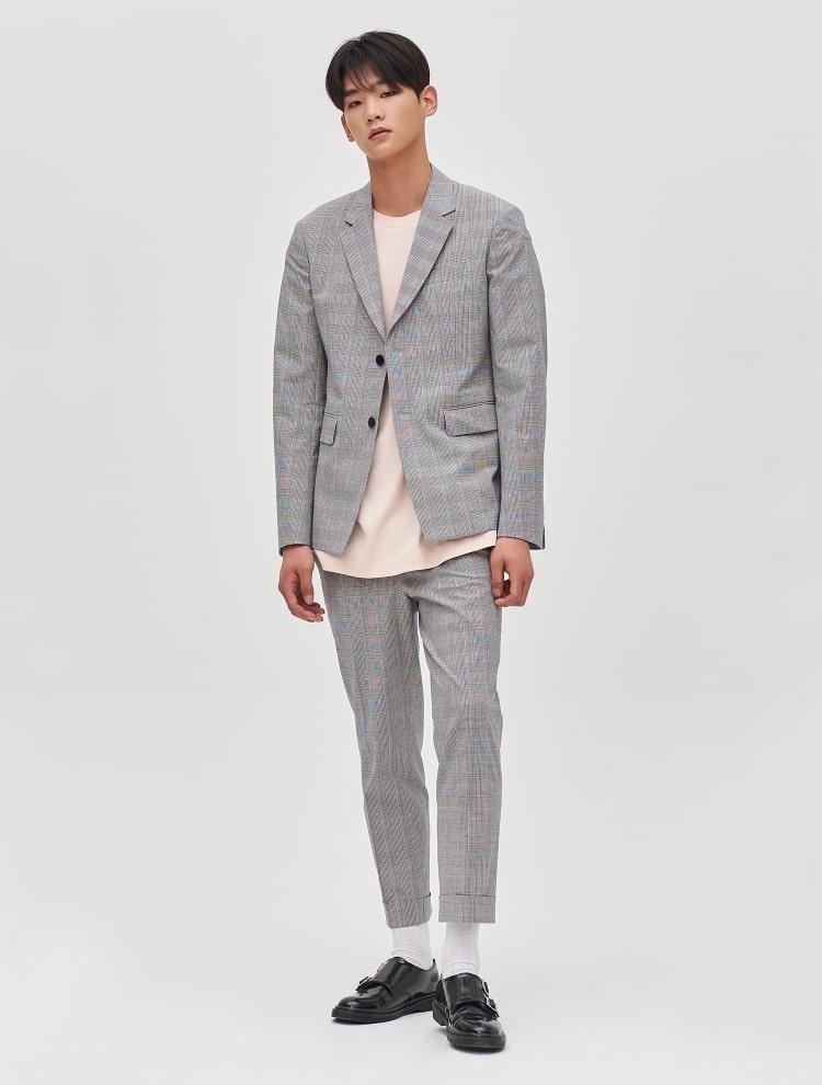 8SECONDS 8 X GD`s Pick Glen Check Suit Pants