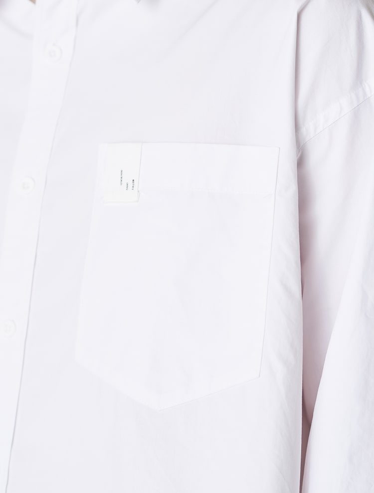 에잇세컨즈(8SECONDS) 화이트 포켓 패치 코튼 셔츠 (268764WY11)