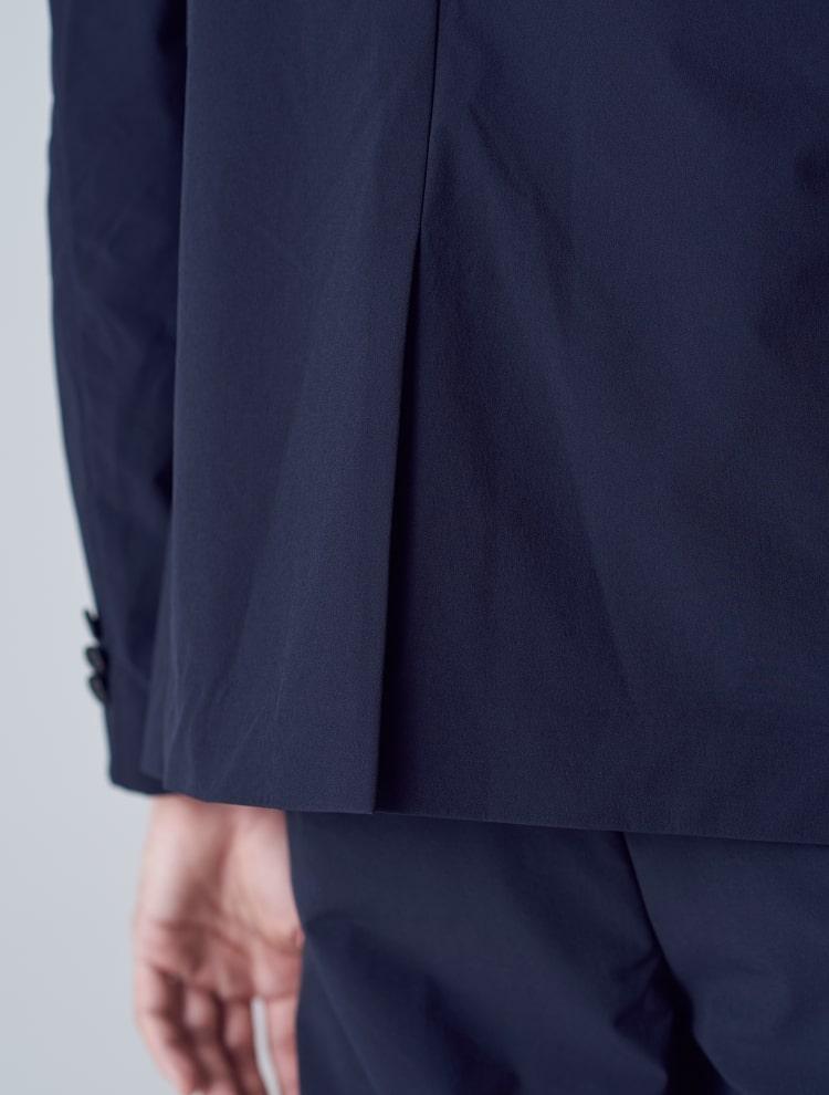 에잇세컨즈(8SECONDS) [사방 스트레치] 블랙 솔리드 화섬 재킷 (228811WY15)