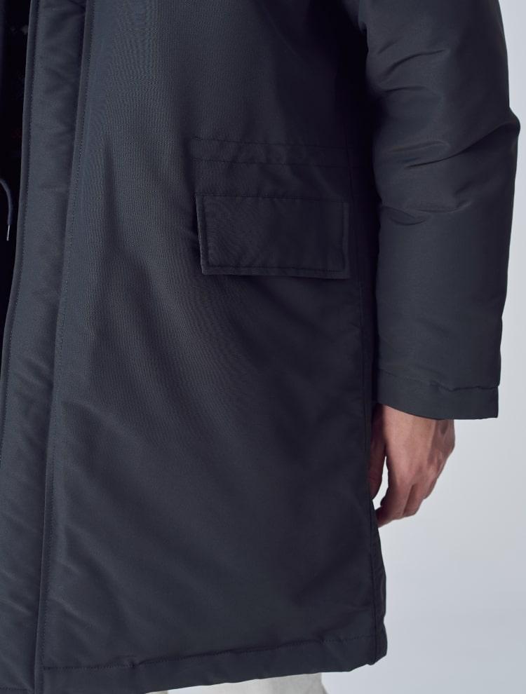 에잇세컨즈(8SECONDS) 애쉬 리얼 퍼 후드 오리털 파카 (258Y38WY24)