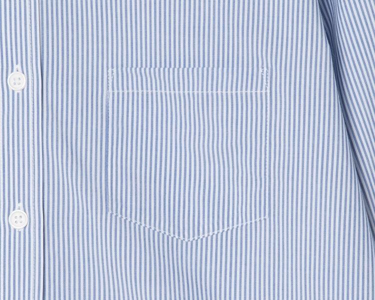 에잇세컨즈(8SECONDS) 블루 핀 스트라이프 슬림 셔츠 (359164LF1P)