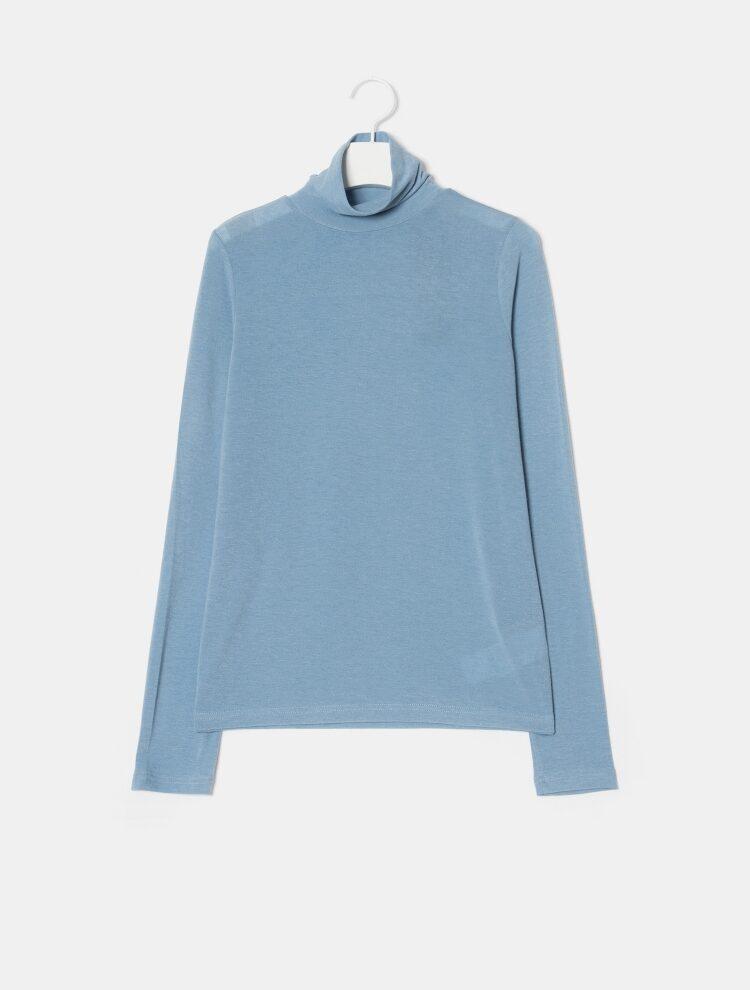 에잇세컨즈(8SECONDS) 옐로우 스트레치 슬림 터틀넥 티셔츠 (129141YQ1E)