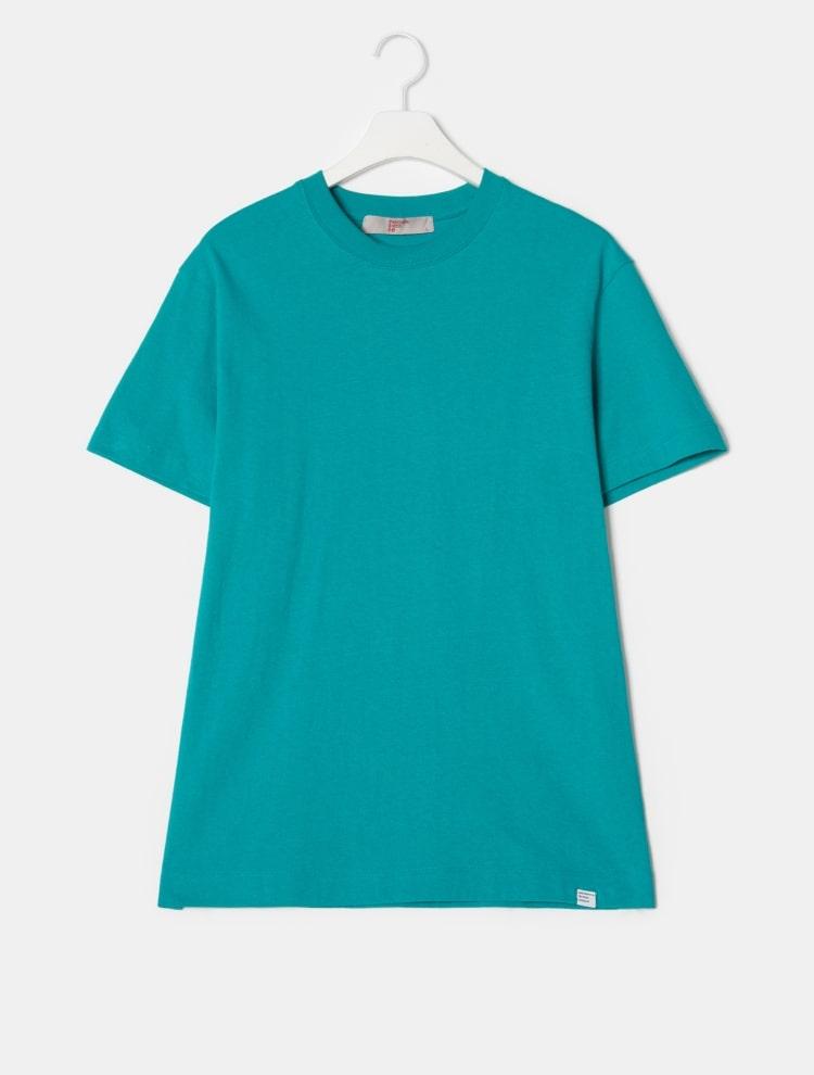 에잇세컨즈(8SECONDS) [LAB8] 블루 솔리드 라벨링 티셔츠 (459142GL3P)