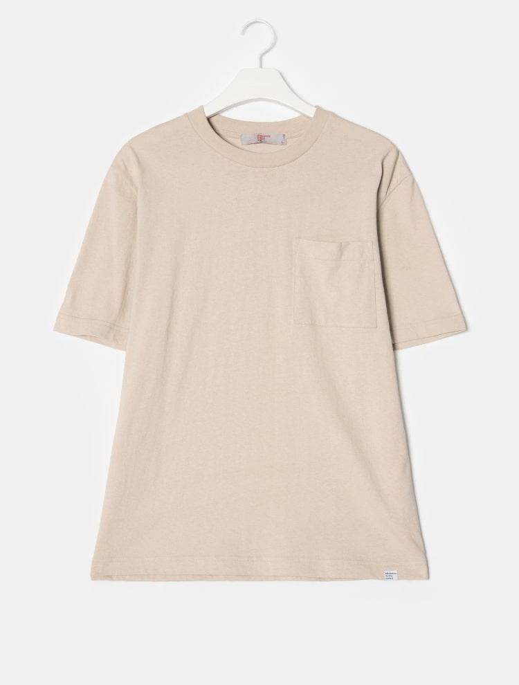 에잇세컨즈(8SECONDS) 바이올렛 코튼 오버사이즈 라운드넥 티셔츠 (459142GY5S)
