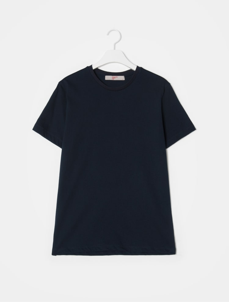 에잇세컨즈(8SECONDS) 화이트 코튼 라운드넥 반소매 티셔츠 (459142GY61)