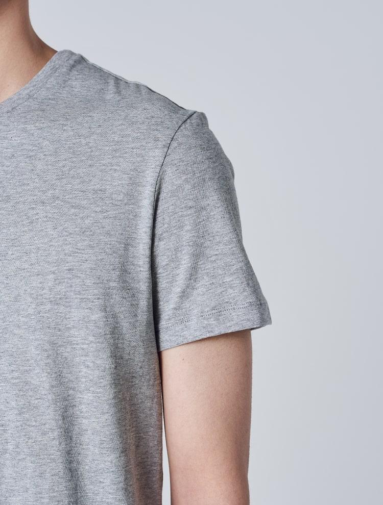 에잇세컨즈(8SECONDS) 라이트 그레이 코튼 라운드넥 반소매 티셔츠 (459142GY62)