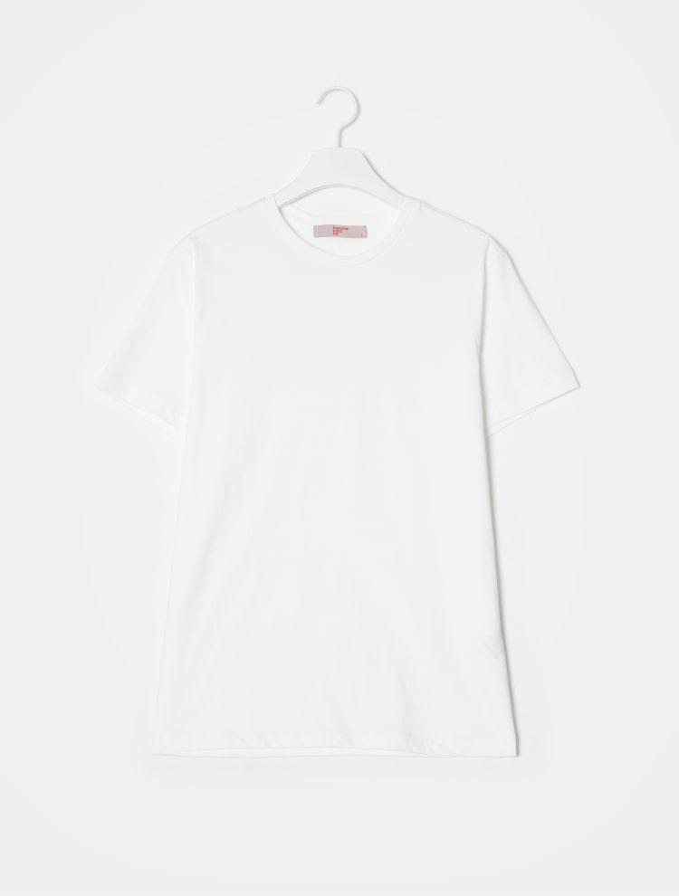 에잇세컨즈(8SECONDS) 블랙 코튼 라운드넥 반소매 티셔츠 (459142GY65)
