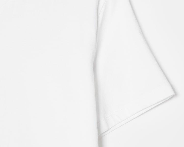 에잇세컨즈(8SECONDS) 화이트 코튼 브이넥 반소매 티셔츠 (459142GY71)