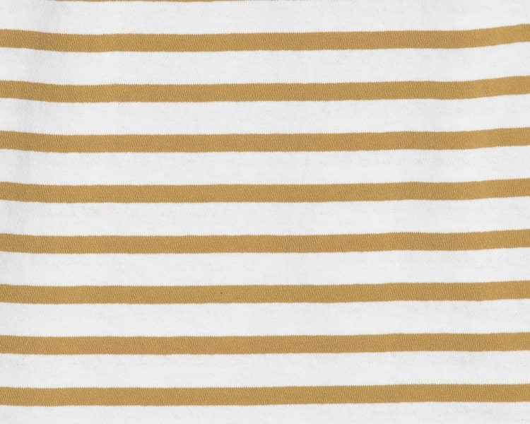 에잇세컨즈(8SECONDS) 카키 코튼 스트라이프 반소매 티셔츠 (459142GY8H)