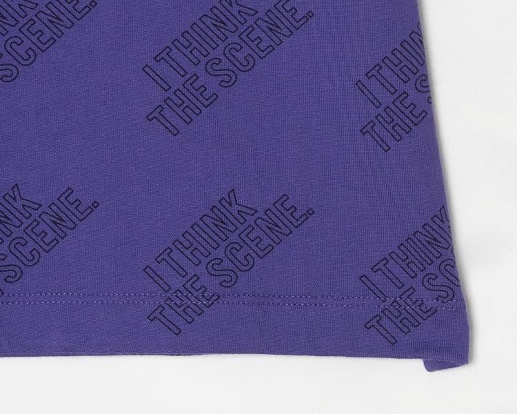 에잇세컨즈(8SECONDS) 바이올렛 코튼 레터링 반소매 티셔츠 (269442CY2S)