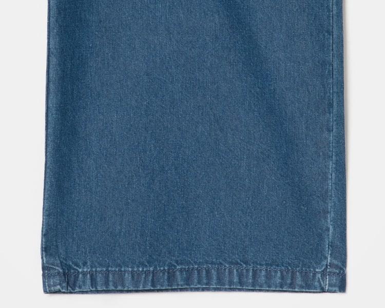 에잇세컨즈(8SECONDS) 블루 스트링 밴딩 와이드 데님 팬츠 (329721LP3P)