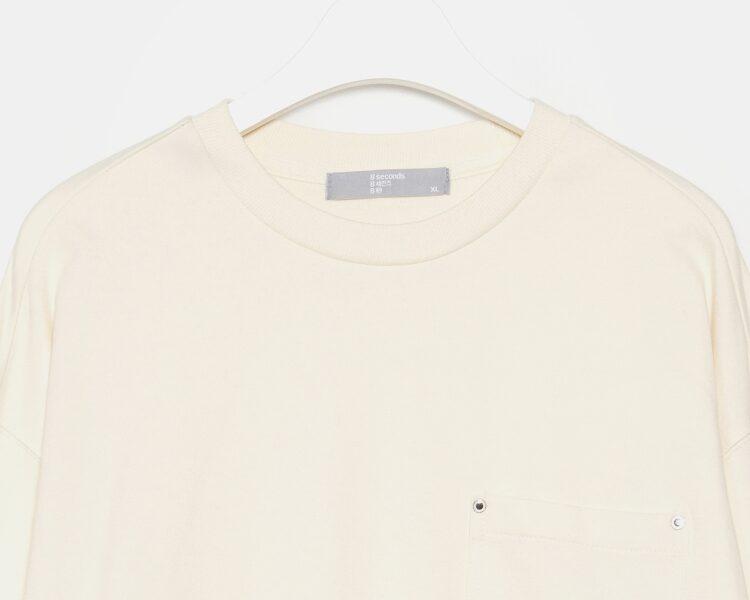 에잇세컨즈(8SECONDS) 아이보리 코튼 포켓 스웨트 셔츠 (459941LQ10)