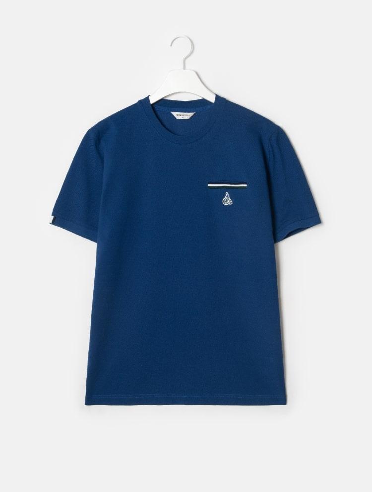 빈폴 멘(BEANPOLE MEN) Unisex 화이트 티핑 로고 라운드넥 티셔츠 (BC9342A101)