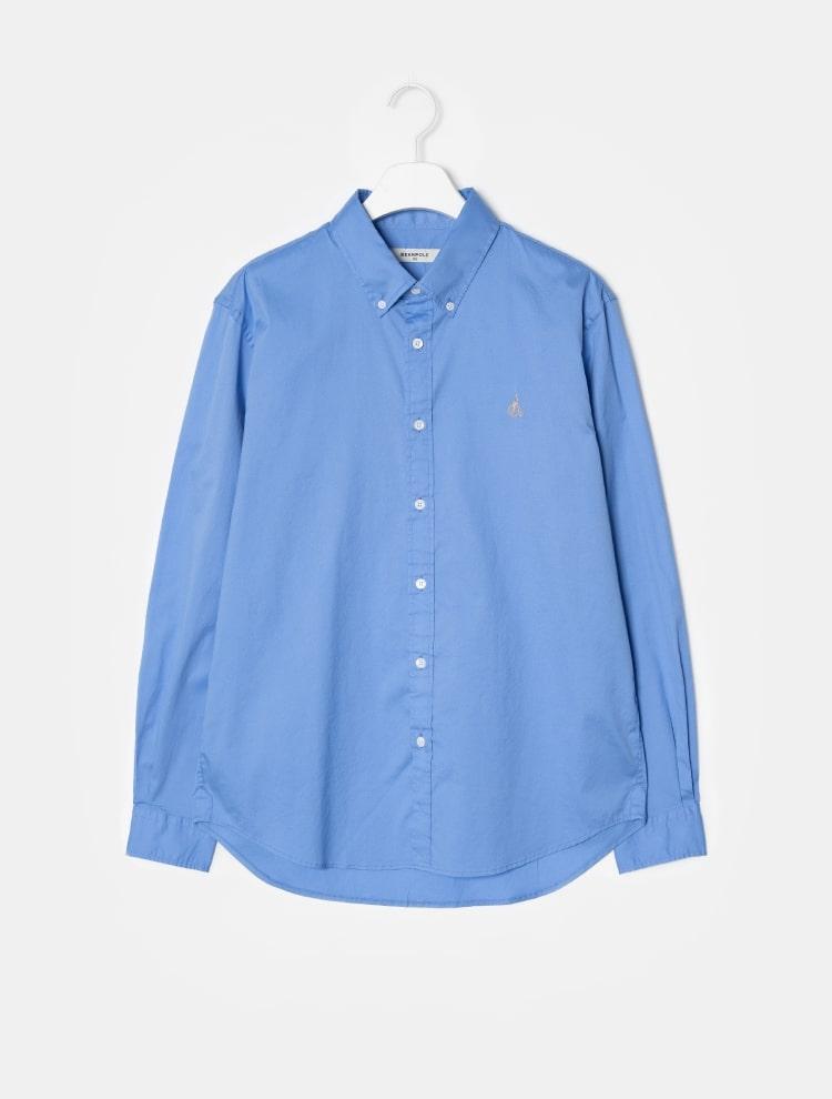 빈폴 멘(BEANPOLE MEN) [REGULAR] 화이트 코튼 트윌 솔리드 셔츠 (BC9164C061)