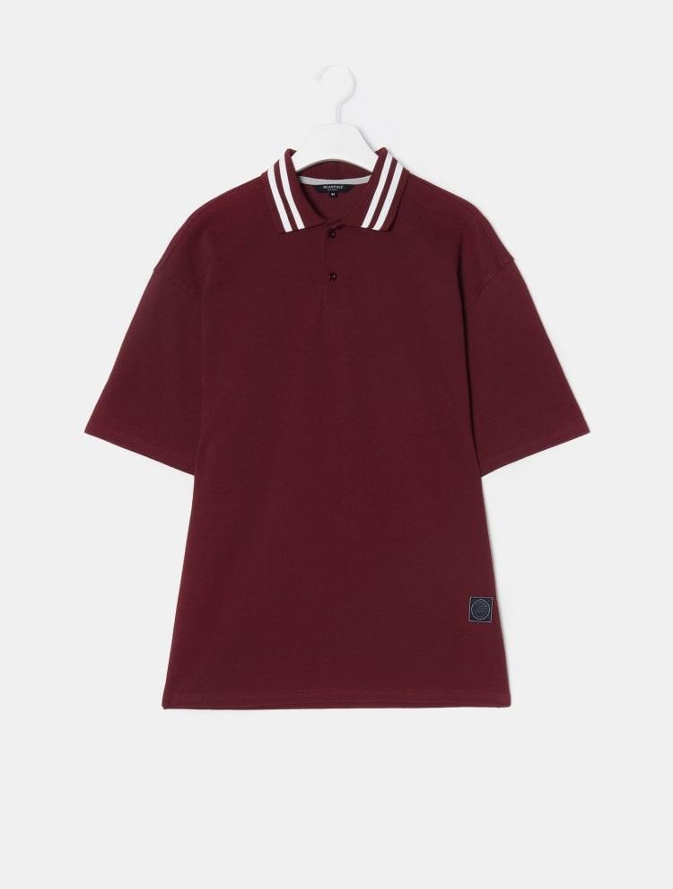 빈폴 스포츠(BEANPOLE SPORT) Unisex 블랙 오버핏 칼라 포인트 피케 티셔츠 (BO9442S115)