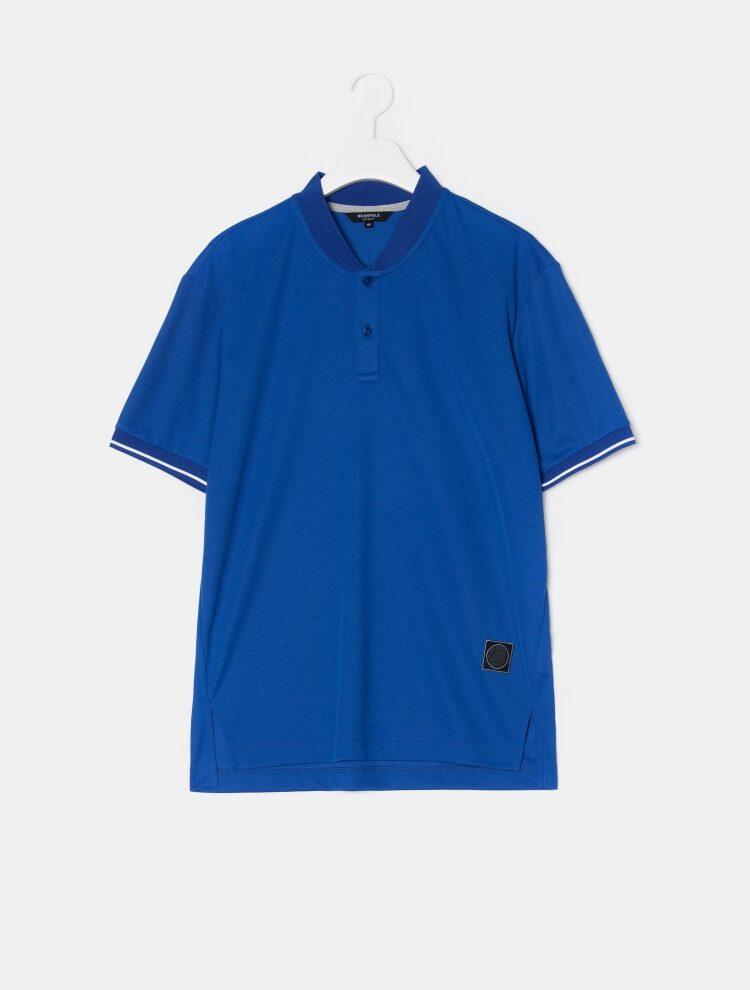 빈폴 스포츠(BEANPOLE SPORT) Unisex 블루 오버핏 스포츠 헨리넥 티셔츠 (BO9442S14P)