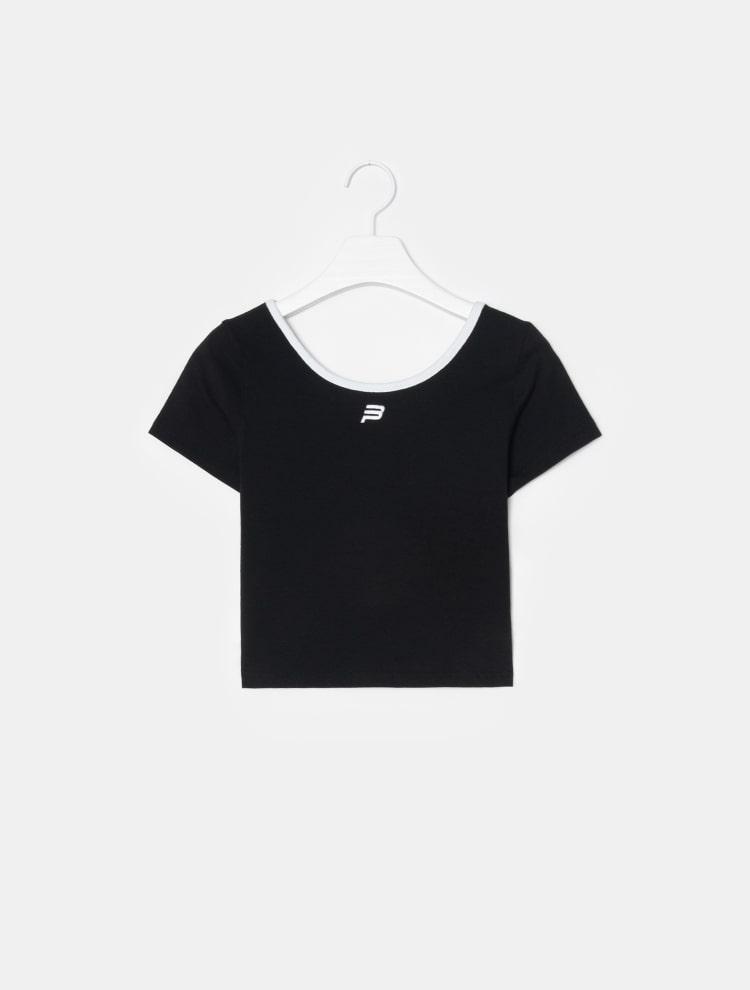 빈폴 스포츠(BEANPOLE SPORT) [BPS X KIRSH] U-NECK TEE - Black (BO9542W045)