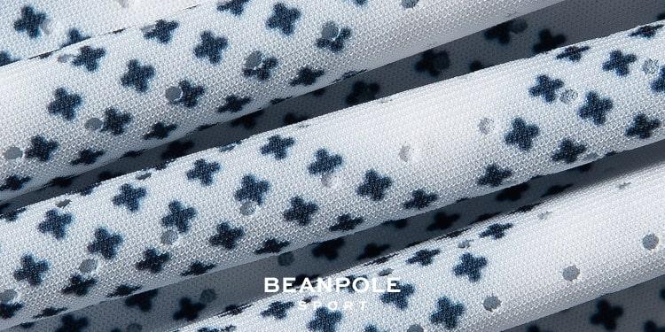 빈폴 스포츠(BEANPOLE SPORT) 블루 여성 메쉬 로고 집업 카디건 (BO9539E01P)