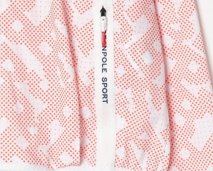 빈폴 스포츠(BEANPOLE SPORT) 핑크 여성 메쉬 로고 집업 카디건 (BO9539E01X)
