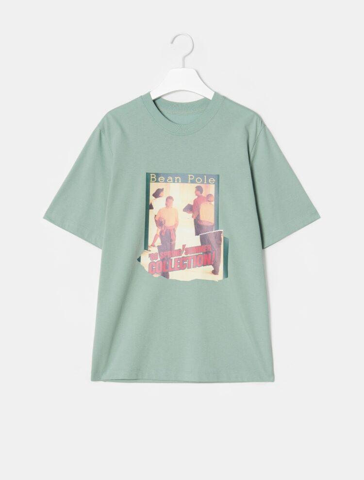 빈폴 레이디스(BEANPOLE LADIES) [30주년 Limited] 화이트 포토 콜라주 프린트 티셔츠 (BF9742N011)