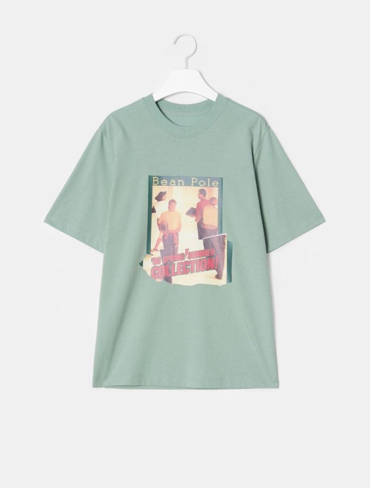 빈폴 레이디스(BEANPOLE LADIES) [30주년 Limited] 그린 포토 콜라주 프린트 티셔츠 (BF9742N01M)