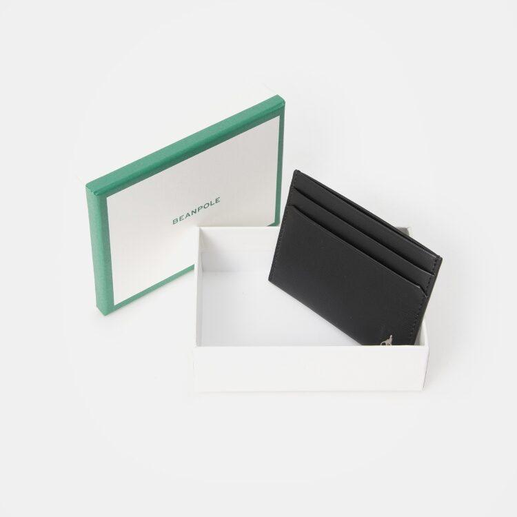 빈폴 액세서리(BEANPOLE ACCESSORY) 스퀘어 빈 낱장 카드지갑 - Black (BE98A3M175)