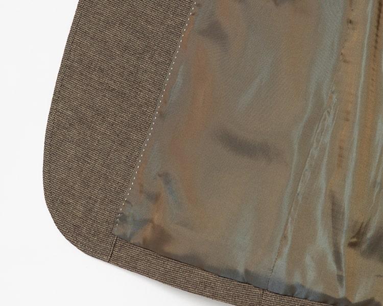 빈폴 멘(BEANPOLE MEN) 베이지 마이크로 깅엄 브러시드 코튼 재킷 (BC9811A52A)