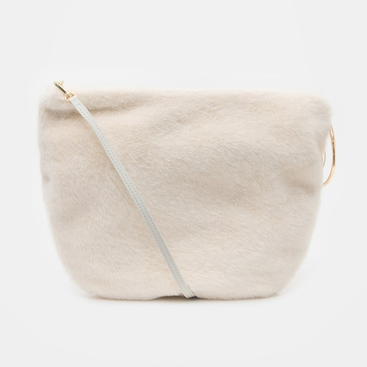 오이아우어(OIAUER) Eco-Fur Mini Bag in Ivory